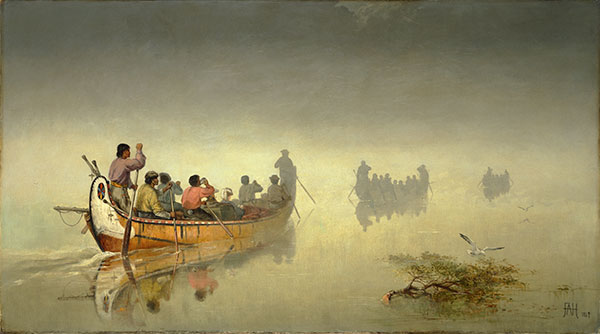 F-A-Hopkins-Canoes-in-a-Fog